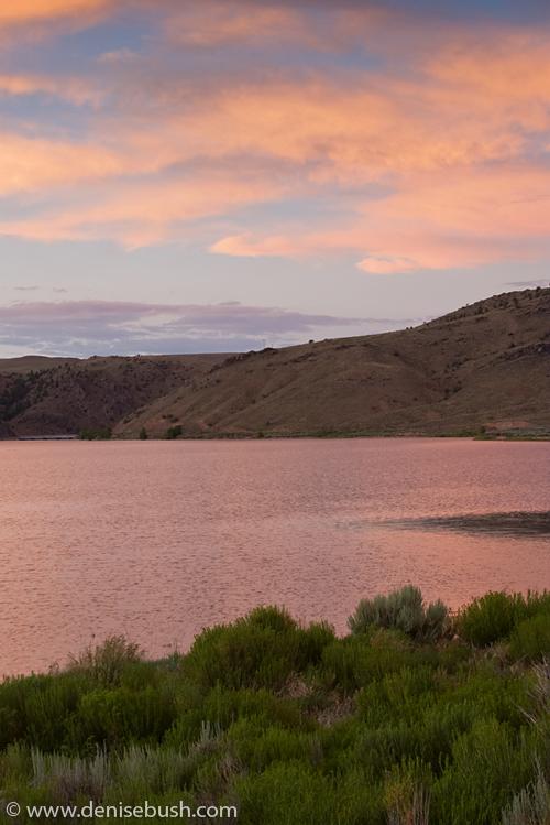 'Blue Mesa Lake & Evening Clouds' © Denise Bush