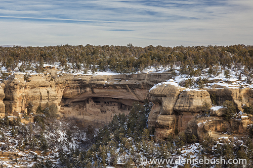 'Cliff Dwellings In Winter'  © Denise Bush