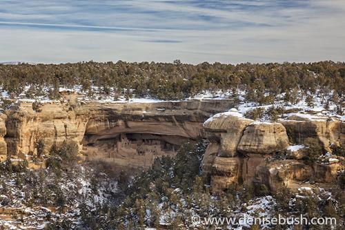 'Cliff Dwellings In Winter'  © Denise Bush