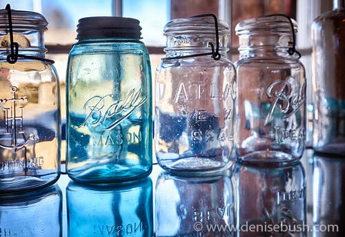 'Jars In Window'  © Denise Bush