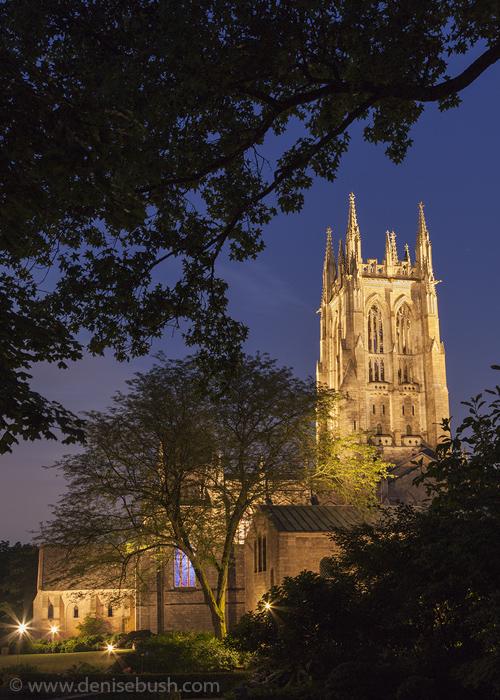 'Bryn Athyn Cathedral at Night'  © Denise Bush