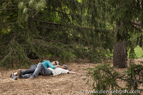 'Nature Nap'  © Denise Bush • Sculpture by Seward Johnson
