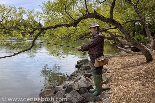 'Patient Fisherman'  © Denise Bush • Sculpture by Seward Johnson
