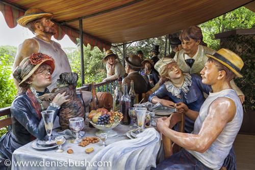 'The Gathering'  © Denise Bush • Sculpture by Seward Johnson