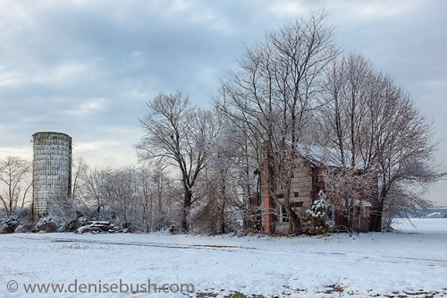 Old Farmstead In Winter