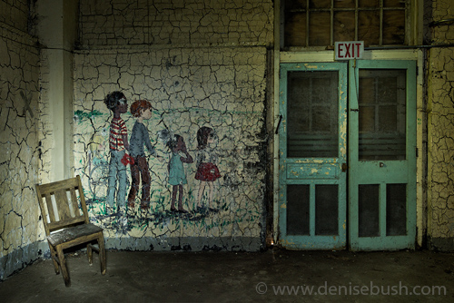 'Candyland Exit'  © Denise Bush (There are 5 children in the mural. Can you see them all?)