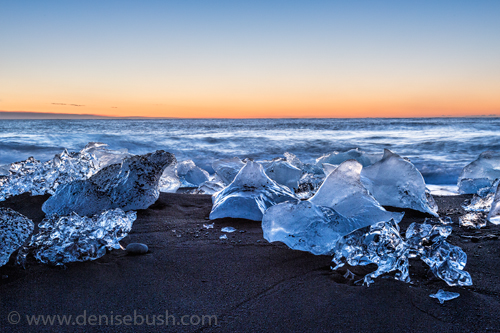 'Icebergs At Sunrise'  © Denise Bush