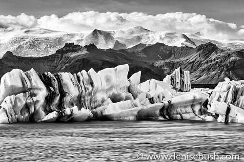 'Icebergs In Glacier Lagoon'  © Denise Bush
