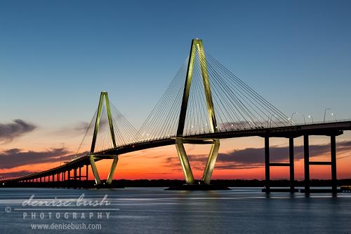 'Arthur Ravenel Bridge at Twilight' © Denise Bush