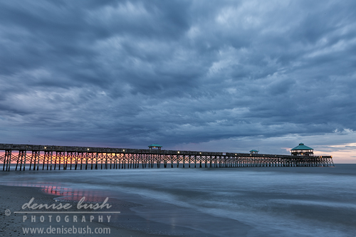 'Before Sunrise At Folly Beach Pier' © Denise Bush