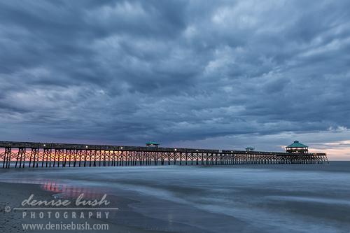 'Before Sunrise At Folly Beach Pier' © Denise Bush