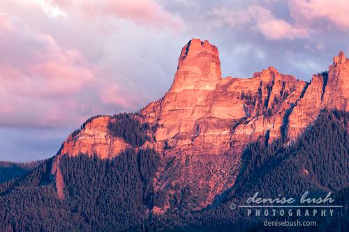 'Alpine Glow at Chimney Rock' © Denise Bush
