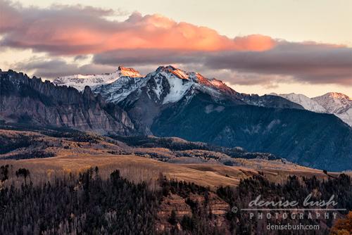 'Snowcapped Peaks At Sunset' © Denise Bush