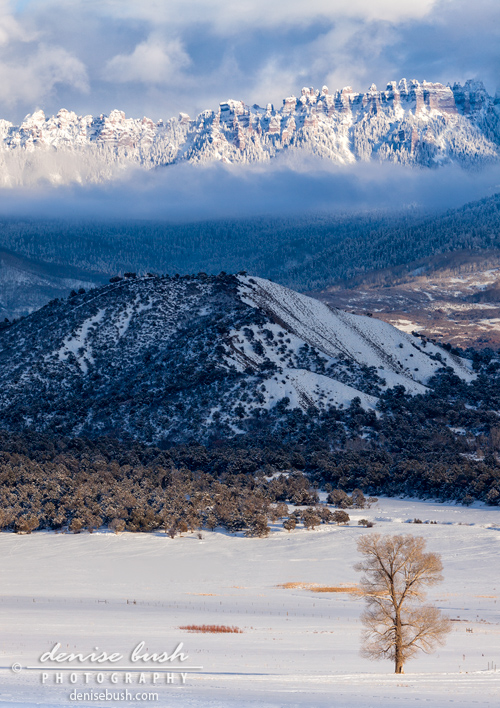 Turret Ridge In Winter © Denise Bush