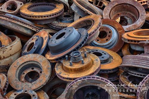 'Scrapyard Circles' © Denise Bush