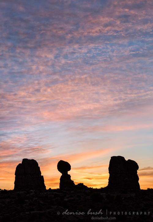 'Balanced Rock at Sunrise' © Denise Bush