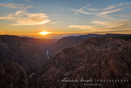 'Black Canyon Sunburst' © Denise Bush
