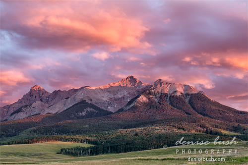 'Clouds Over Hayden At Sunset' © Denise Buh click here to view larger or order a print