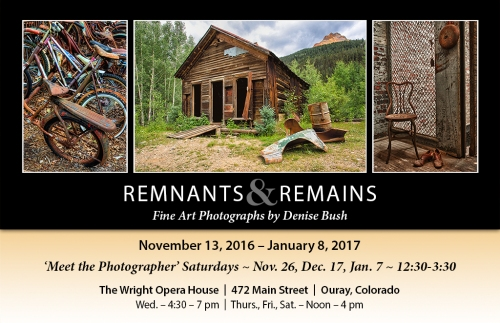 click here to see the 'Remnants & Remains' online gallery
