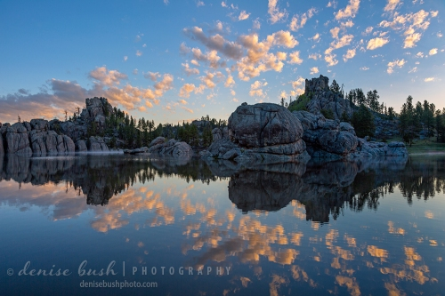 The clouds are the first to wake at Sylvan Lake in the Black Hills of South Dakota.