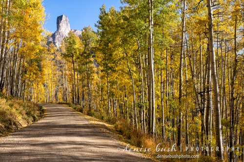 The road leading to Chimney Rock displays some beautiful,