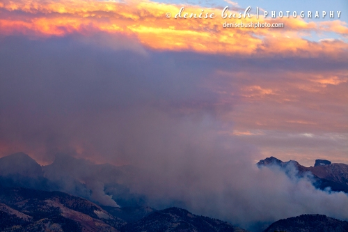 A wildfire in the San Juan Mountains of Colorado grows larger by the minute!