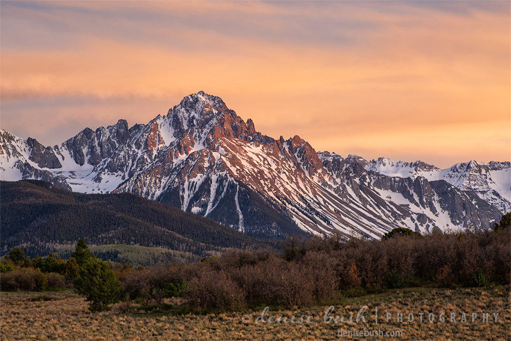 Mighty Mount Sneffels is one of the 14ers in the San Juan Mountains of Colorado.