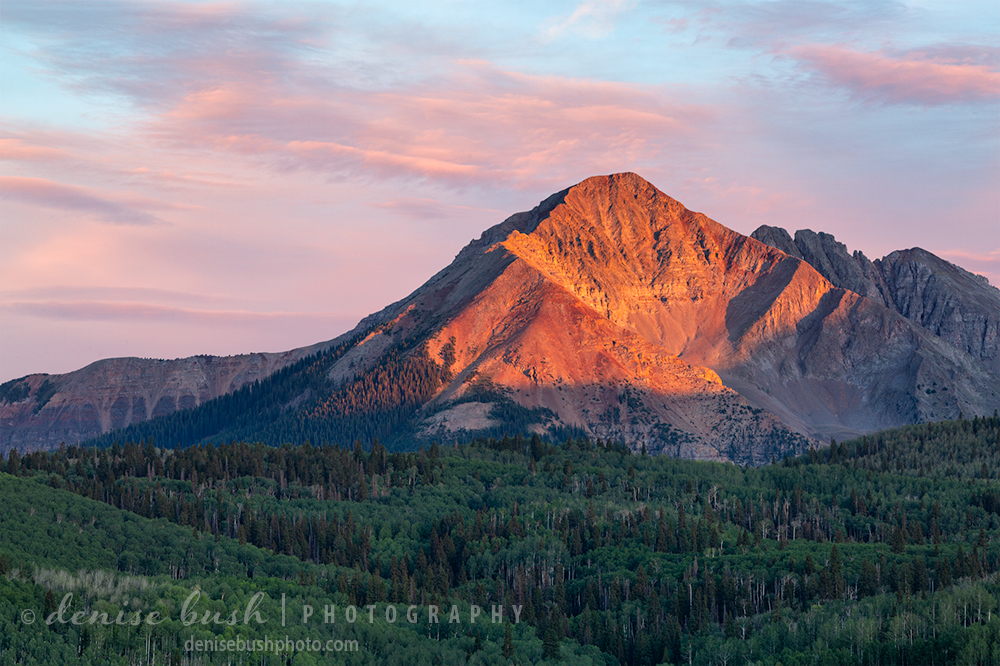 Sunshine Mountain is one of the more recognizable mountains near Telluride, in San Miguel County, Colorado.