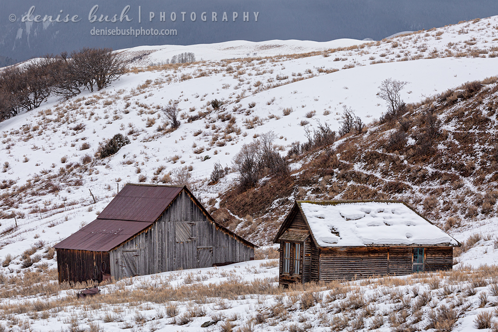 A small house and barn remind of how it was on the ranch in the old days!