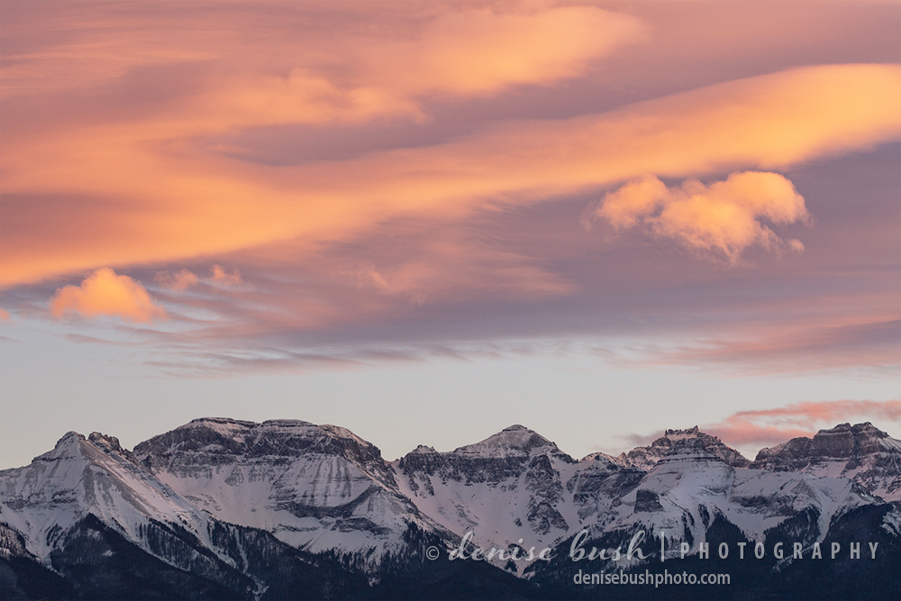 Windswept clouds over the San Juan Mountains of Southwest Colorado are a wonderous, winter sight.