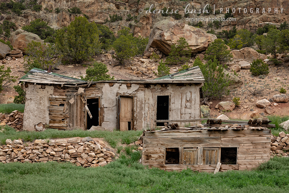 Structures from a time gone by show the effects of time and weather.