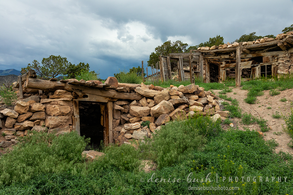 Remains from a small, abandoned settlement demonstrate building with materials readily available.