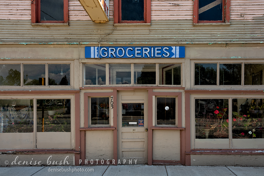 An abandoned, old-style  grocery store takes us back to a time when towns had corner stores to buy groceries and more.