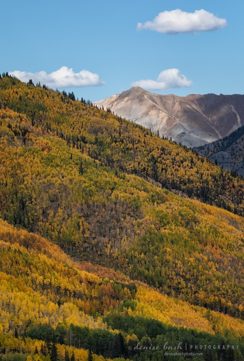 Awesome autumn views can be seen from high points in the San Juan Mountains.