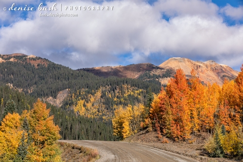 Beautiful, happy clouds add to a perfect day for a leaf peeping drive!